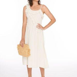NWT Wray Mina 100% silk dress natural small